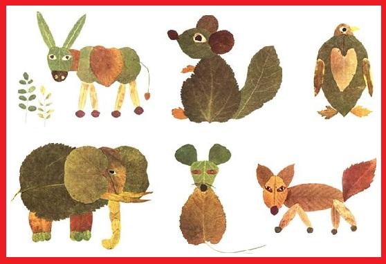 Me divierto y aprendo animales con hojas secas for Decoracion con hojas secas